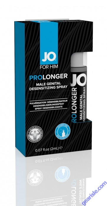 System JO Prolonger Delay Spray 2ml Travel Size Desensitizes