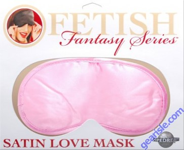 Satin Love Mask in Pink
