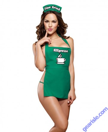 Dreamgirl 9322 Coffeehouse Cutie Bedroom Costume XXXpresso Lingerie