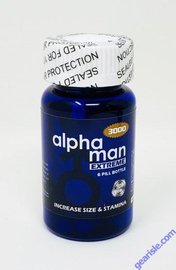 Alpha Man Extreme 3000 Bottle 6 Count Pill Male Sexual Enhancement