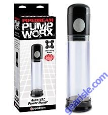 Pipedream Pump Worx Rechargeable 3-Speed Auto-Vac Penis Pump  Enlargement