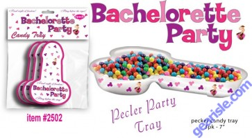 Bachelorette Pecker Candy Tray 3pk