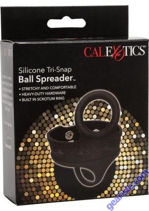 Ball Spreader Silicone Tri-Snap Scrotum Ring Cal Exotics