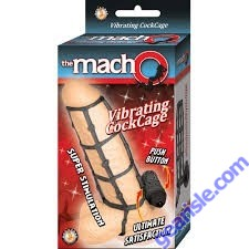 Vibrating Cock Cage Black The macho