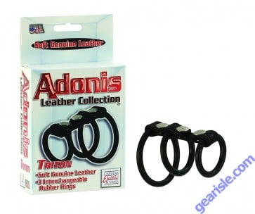 Triton Rubber Rings Adonis Leather Collection