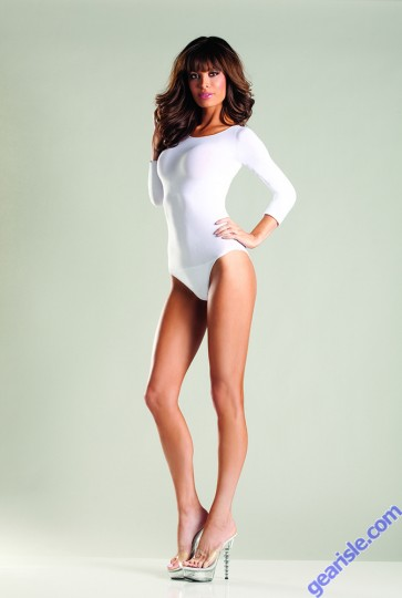 Opaque Long Sleeve Body Suit Be Wicked BW634Q Lingerie