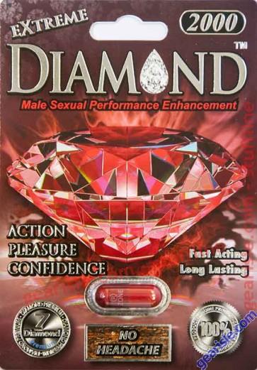 Diamond Extreme Male Sexual Performance Enhancement Ruby Red Pills 2000mg by Diamond Premium
