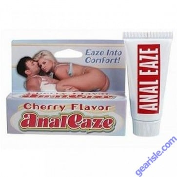 Anal Eaze Cherry Flavor Anal Sex Lubricant .5 oz (14ml) Tube