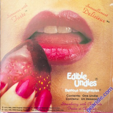 Edible Undies Dessous Mangeables Female Strawberry Cholocate
