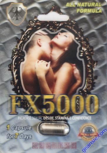 FX5000 Increase Sexual Desire Stamina & Confidence Pill 1 Capsule 7 Days