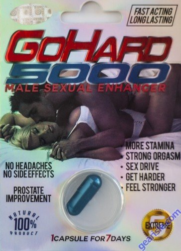 GoHard 5000 Extreme Male Sexual Performance Enhancer Pill For Man