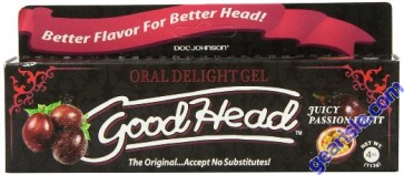 Doc Johnson Good Head Oral Delight Gel Juicty Passion Fruit 4 Oz (