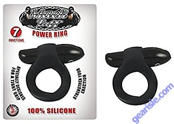 Power Cock Ring Silicone Black Mack Tuff