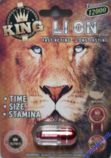 King Lion 12000 Male Enhancement Pill 3D Package