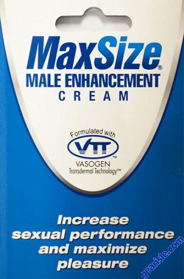 MaxSize Male Enhancement Cream by M.D. Science Lab, LLC.