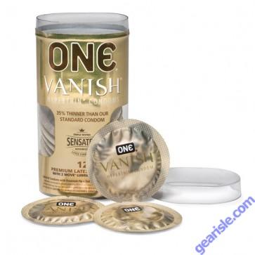 One Vanish Hyperthin Condom Package of 12