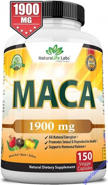 Organic Peruvian Maca Root 1900MG 150 Pure Vegan Pills Gelatinized