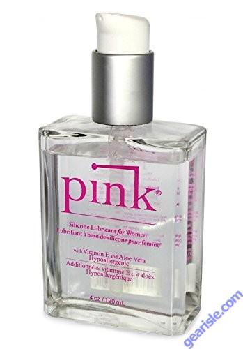 Pink Silicone Lubricant For Women With Vitamin E & Aloe Vera 4 Oz