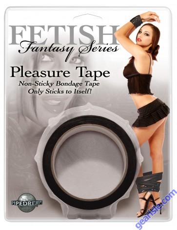 Fetish Fantasy Series Pleasure Tape Black Non Sticky Bondage