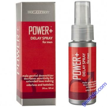 Power + Delay Spray For Men 7.5% Benzocaine 2 Oz Desensitizer Doc Johnson