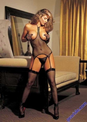 Fishnet Open Bust 3 PC Set by Shirley of Hollywood 90017 Black Red