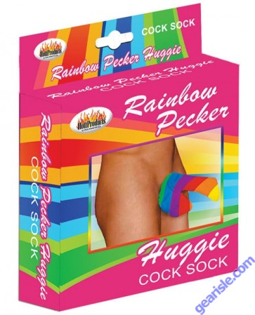 Rainbow Pecker Huggie Cock Sock