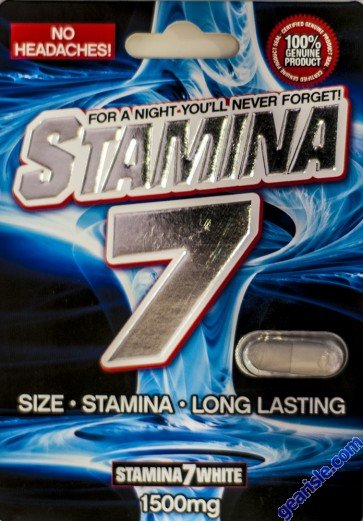 Stamina 7 White 1500mg Male Sexual Performance Pill No Headache