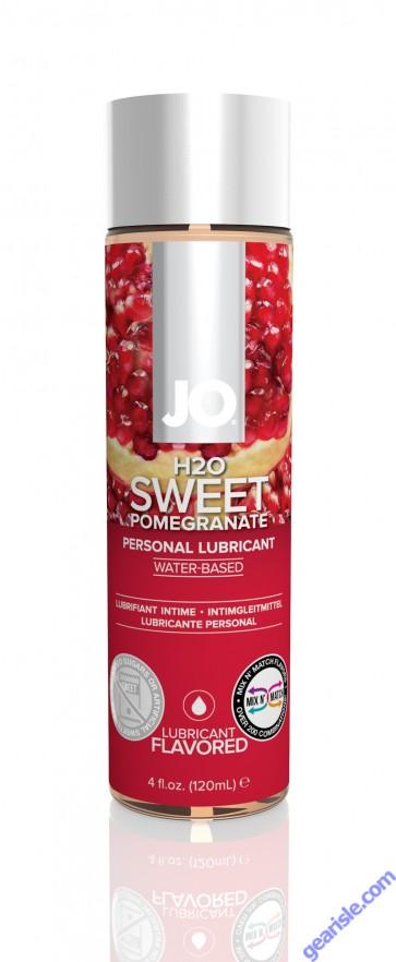 Jo H2O Flavored Lubricant Sweet Pomegranate 4 fl.oz