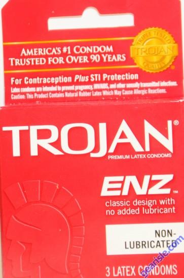 Trojan ENZ Classic Design Non Lubricated Condom 3 Latex Condoms
