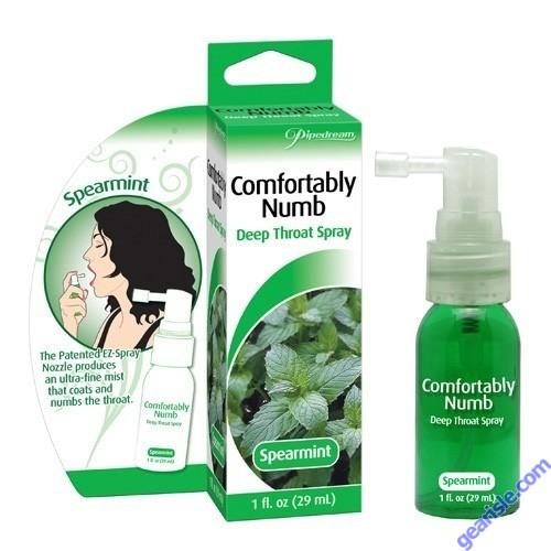 Comfortably Numb Deep Throat Spray Spearmint 1 fl Oz 29ml