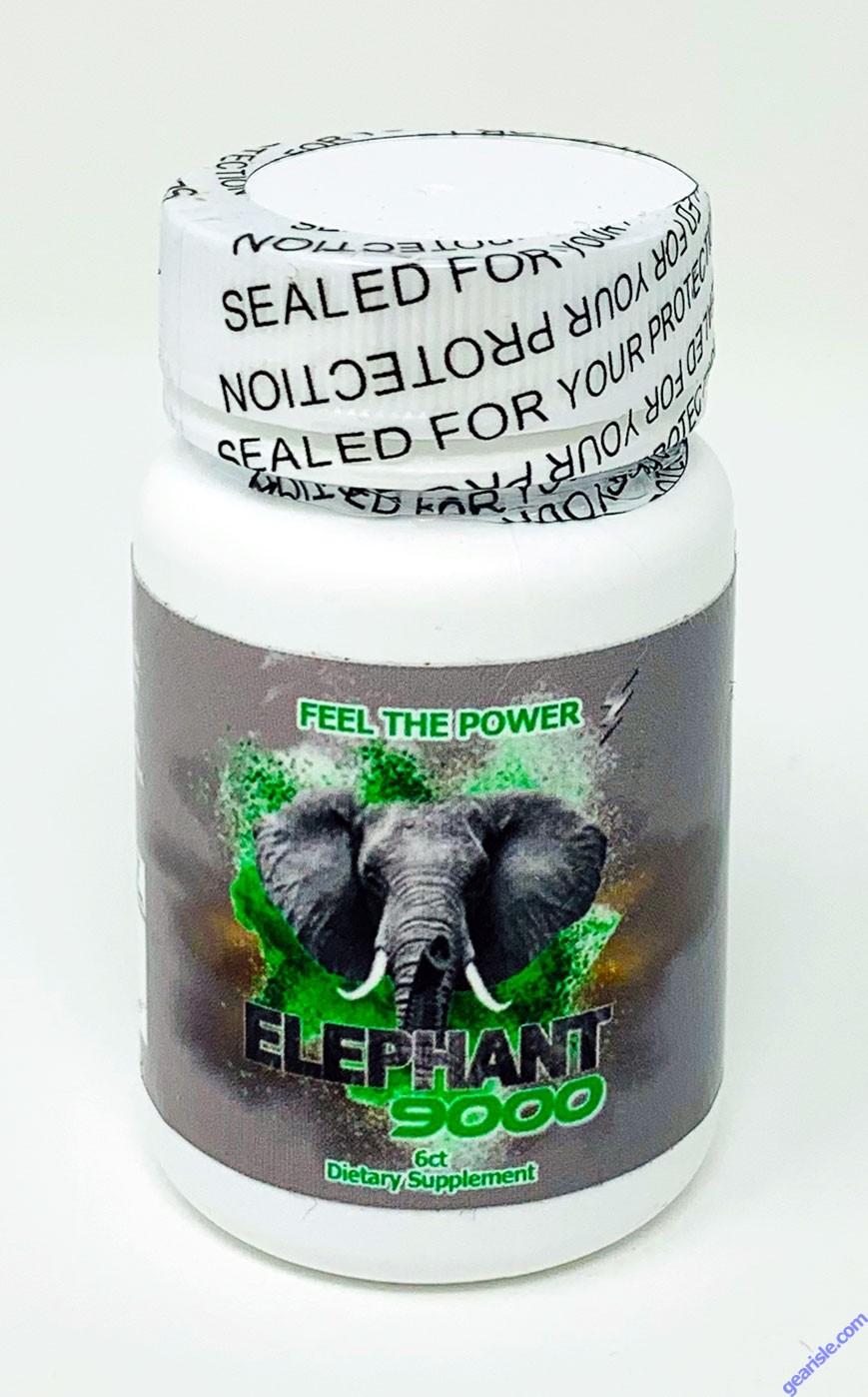 Elephant 9000 Male Enhancement 6 Count Bottle Pill