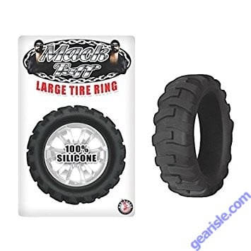 Silicone Large Tire Cock Ring Black Mack Tuff