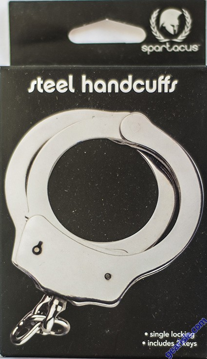 Spartacus Steel Handcuffs Single Locking With 2 Keys Game