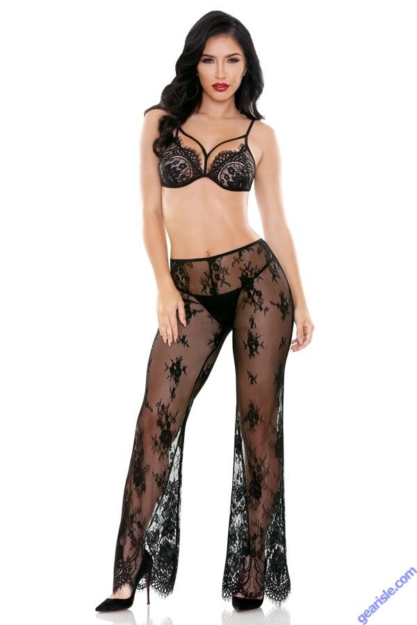 Giselle Cutout Bralette Matching Lace Pant Tease B472