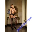 Dreamgirl 0006 Fishnet Thigh High With Lace Top Lingerie