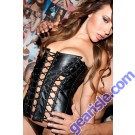 Full Lace Up Leather Corset 11-105