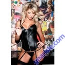 Zipper Leather Corset 11-113
