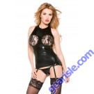 Lace Wet Look Corset Kitten-Boxed 11-6502K