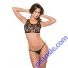 Lace Wet Look Two Piece Set Kitten-Boxed 12-4602K