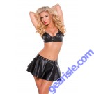 Faux Leather Flare Skirt 13-0102
