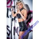 Faux Leather Flirty Studded Skirt 13-1402