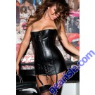 Leather Corset Dress 17-105