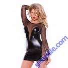 Wetlook Mesh Dress Kitten-Boxed 17-5602K