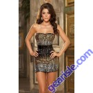Gold Sequin Strapless Mini Dress Unique Ombre Sequin Strapless Dress 2332