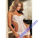 Sexy Babydoll Gown Nightwear Dress + G-String 2608 Lingerie