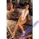 White Sheer Floral Lace Strappd Teddy with Split Front 2679 Lingerie