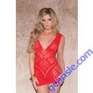 Glitter 32051 Multi Patterned Seamless Mini Dress Lingerie