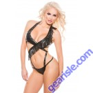 Allure Faux Leather Wrap Teddy Naughty 4-7005