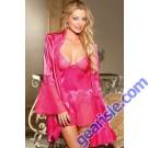 Glamorous Red Robe Babydoll Set 5170 Lingerie
