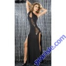 Fashion Long Dress Uniform Latin Dance Women Clothing Girls Club Wear 59781